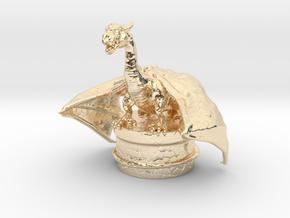Fantasy Dragon Bottlestopper in 14k Gold Plated Brass