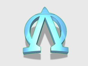 60x Lambda Omega: Shoulder Insignia pack in Smooth Fine Detail Plastic