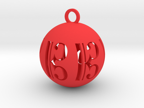 Alto Clef Christmas Tree Ball in Red Strong & Flexible Polished: Small
