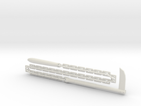 Kusari-Gama - 1:3 in White Natural Versatile Plastic