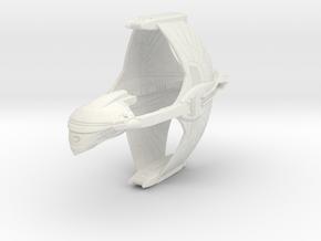 Romulan KaVal Class  WarBird in White Natural Versatile Plastic