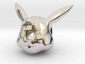 Pikachu Charm in Rhodium Plated Brass