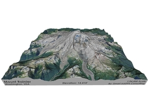 "Mount Rainier Map: 8""x8"" in Full Color Sandstone"