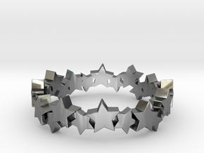 Stellar Ring in Polished Silver: 4 / 46.5