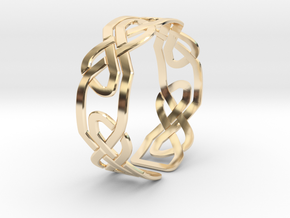 Celtic Knot Bracelet in 14k Gold Plated Brass: Extra Small