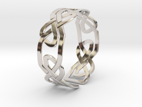 Celtic Knot Bracelet in Rhodium Plated Brass: Extra Small