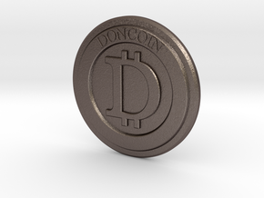 DonCoin in Polished Bronzed Silver Steel