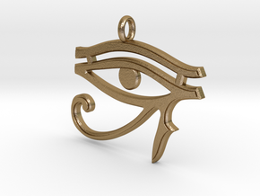 Eye of Horus Pendant 2 v1 in Polished Gold Steel