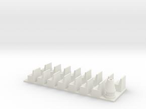 HOn3 DRGW combine interior in White Natural Versatile Plastic
