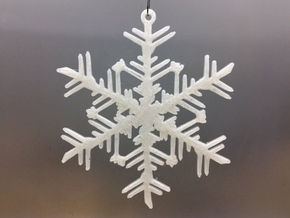 Organic Snowflake Ornament - Russia in White Natural Versatile Plastic