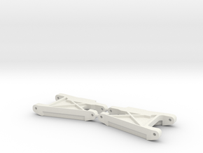 RC10 Wide rear control arms (stock) in White Natural Versatile Plastic