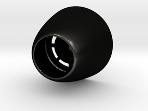 3d_F-18_Rear_Engine_Nozzles in Matte Black Steel