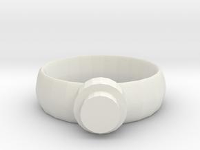 Snap-On Ring Base in White Natural Versatile Plastic