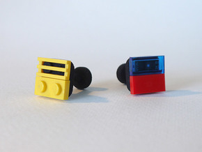 bX Cufflinks in Black Natural Versatile Plastic