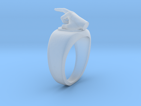 Middle Finger Ring - Size 9 in Smoothest Fine Detail Plastic