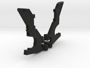 3DRC DEX410 REAR BULKHEAD SET-001 in Black Natural Versatile Plastic