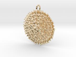 Fractal Bouquet Pendant in 14K Yellow Gold