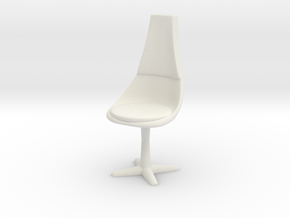 Crew Chair, 32mm Scale in White Natural Versatile Plastic