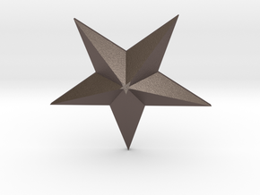 Star in Polished Bronzed Silver Steel