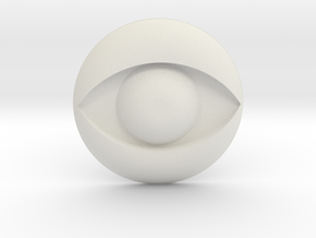 Eye Logo in White Natural Versatile Plastic