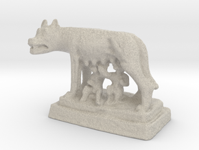 Capitoline Wolf - Romulus and Remus in Natural Sandstone