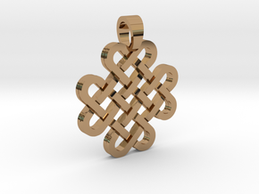 Knot [pendant] in Polished Brass