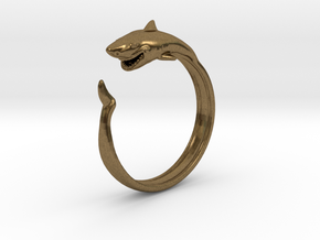 Shark Ring in Natural Bronze