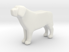 Labrador Retriever Print in White Natural Versatile Plastic: Medium