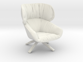 Miniature Tabano Armchair -  B&B Italia in White Natural Versatile Plastic: 1:12