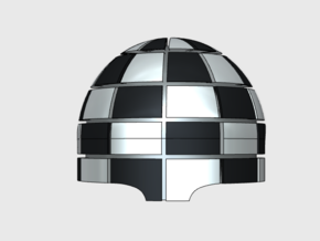 Checkerboard (2mm) = Terminator Shoulder x10 in Smooth Fine Detail Plastic