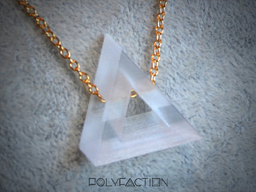 40 Degree ::: Triangle Pendant ::: v.01 in Transparent Acrylic