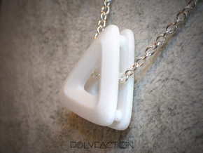 Unite ::: Triangle Pendant ::: v.01 in White Processed Versatile Plastic