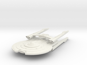 Federation YorkTown Class III refit  BattleCruiser in White Natural Versatile Plastic