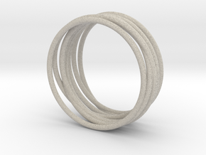 Complex Ring in Natural Sandstone