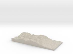 Model of Mount Rixford in Natural Sandstone