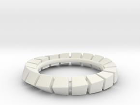 Cuboid Circognia in White Natural Versatile Plastic