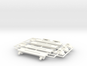 Lancia Delta rep. set VAR3 Instrument frame in White Processed Versatile Plastic