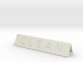 Dishwasher Sign Prism in White Natural Versatile Plastic