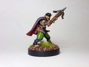 Halfling Assassin in Black Hi-Def Acrylate