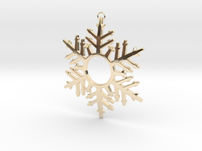 Snowflake Celebration in 14k Gold Plated Brass
