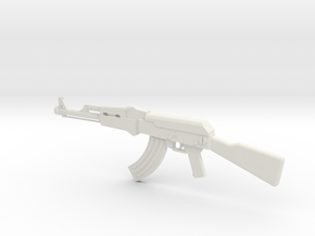 AK-47 Toy Gun in White Natural Versatile Plastic