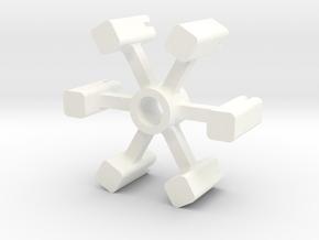 Hood Ornament Holder in White Processed Versatile Plastic