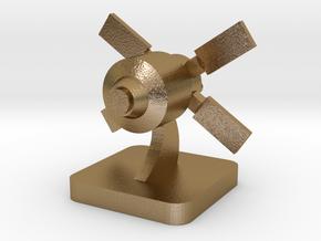 Mini Space Program, ATV spacecraft in Polished Gold Steel