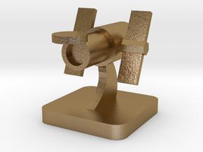 Mini Space Program, Space Telescope in Polished Gold Steel