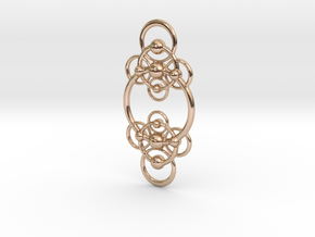 Gd2E Pendant in 14k Rose Gold Plated Brass
