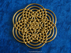 Merkaba Fractal Metatron Cube in Polished Gold Steel
