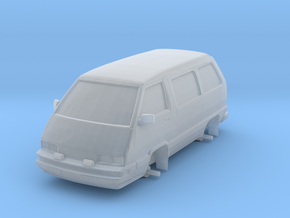 """1/87 Scale 4x4 Mini Van """"TOY"""" in Smooth Fine Detail Plastic"""