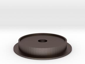 Single Wheel v.2 1/25 Scale in Polished Bronzed Silver Steel