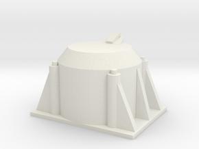 Single Axle Box v.2 1/25 Scale in White Natural Versatile Plastic