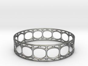 Voronoi Cylindrical Bracelet in Fine Detail Polished Silver